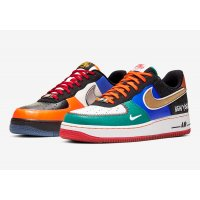 Zapatos Zapatillas bajas Nike Air Force 1 Low  White/Black-Total Orange-Racer Blue