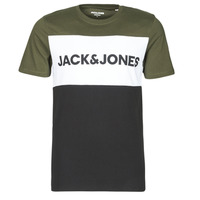 textil Hombre Camisetas manga corta Jack & Jones JJELOGO Kaki