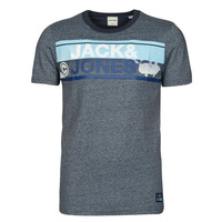 textil Hombre Camisetas manga corta Jack & Jones JCONICCO Marino
