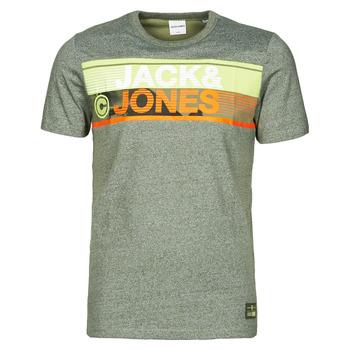 textil Hombre Camisetas manga corta Jack & Jones JCONICCO Kaki