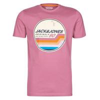 textil Hombre Camisetas manga corta Jack & Jones JORTYLER Rosa