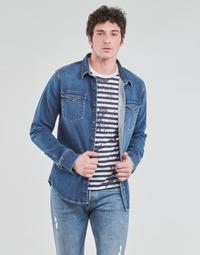 textil Hombre Camisas manga larga Yurban OPUCI Azul / Medium