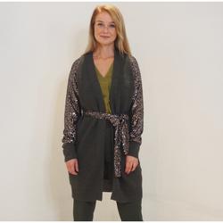 textil Mujer Chaquetas de punto Kocca Abrigo HENK Verde