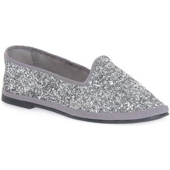 Zapatos Mujer Bailarinas-manoletinas Priv Lab GLITTER ARGENTO Grigio