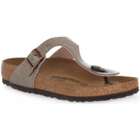 Zapatos Mujer Chanclas Birkenstock GIZEH GRACEFUL TAUPE CALZ N Marrone