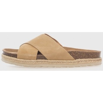 Zapatos Mujer Sandalias Trend Shoes 18002 Beige