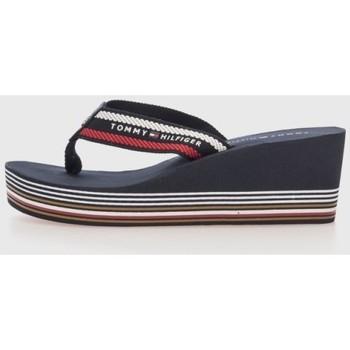 Zapatos Mujer Chanclas Tommy Hilfiger STRIPY WEDGE BEACH SANDAL Bleu
