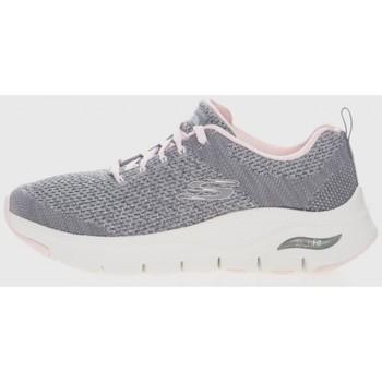 Zapatos Mujer Deportivas Moda Skechers 12946 Gris