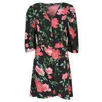 textil Mujer Vestidos cortos Only ONLEVE 3/4 SLEEVE SHORT DRESS WVN Negro / Rosa
