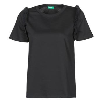 textil Mujer Camisetas manga corta Benetton MARIELLA Negro