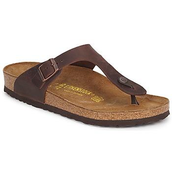 Zapatos Mujer Chanclas Birkenstock GIZEH PREMIUM Marrón