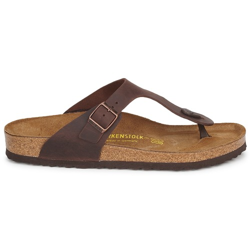 Zapatos Birkenstock Gizeh Mujer Chanclas Premium Marrón WHIED29