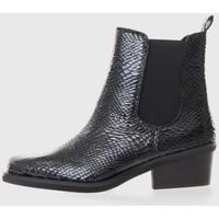 Zapatos Mujer Botas de caña baja Kamome A2770 Negro