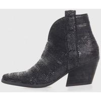 Zapatos Mujer Botas de caña baja Kamome A2820 Negro