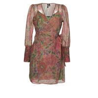 textil Mujer Vestidos cortos Vero Moda VMABELIA Verde / Rojo
