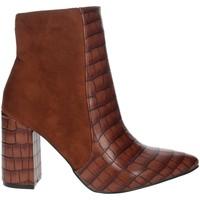 Zapatos Mujer Botines Pregunta PFC9144-MC Marrón cuero