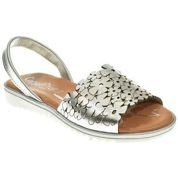 Zapatos Niña Sandalias Canalitas MENORQUINA NIÑA  PLATA Gris