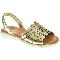 Zapatos Niña Sandalias Canalitas MENORQUINA NIÑA  ORO Amarillo