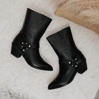 Zapatos Mujer Botas urbanas Vienty Bota Piel negro BALBOA Negro
