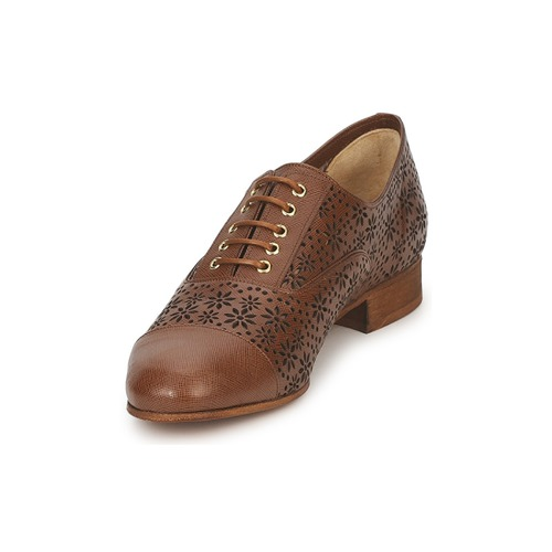 Mujer Moschino Chic Peonia Cheapamp; Zapatos Derbie Marrón 9IeD2EWHY