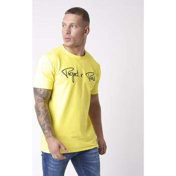 textil Hombre Camisetas manga corta Project X Paris  Amarillo