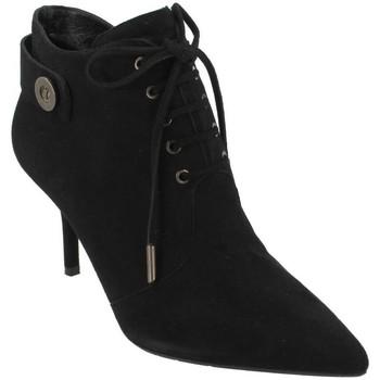 Zapatos Mujer Botines Durá - Durá 1662 ANTE NEGRO Negro