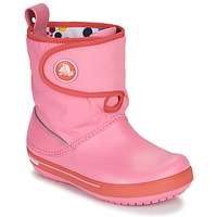 Zapatos Niños Botas de nieve Crocs CROCBAND ll.5 GUST BOOT KIDS PLEM PPY Rosa
