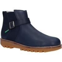 Zapatos Niño Botas de caña baja Kickers 829850 NEWBOOT Azul