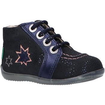 Zapatos Niña Botines Kickers 829630 BE POWER Azul