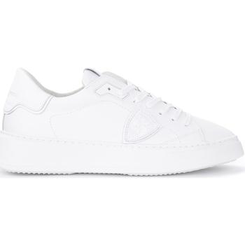 Zapatos Hombre Deportivas Moda Philippe Model Zapatillas Temple L de piel blanca Blanco