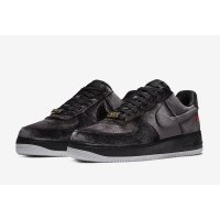 Zapatos Zapatillas bajas Nike Air Force 1 Low Black Velvet Black/Black/White