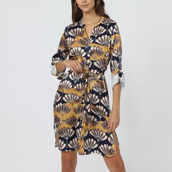 textil Mujer Vestidos cortos Anany AN-261081 AMARILLO