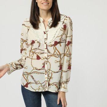 textil Mujer Tops / Blusas Anany N-Y207 BEIGE