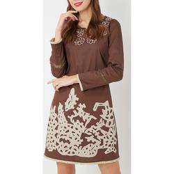 textil Mujer Vestidos cortos Anany D7887 MARRON