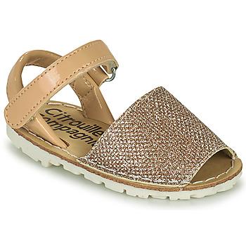 Zapatos Niña Sandalias Citrouille et Compagnie SQUOUBEL Beige