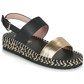 Zapatos Mujer Sandalias Café Noir GRISLI Negro / Oro