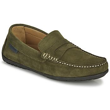 Zapatos Hombre Mocasín Pellet Cador Kaki