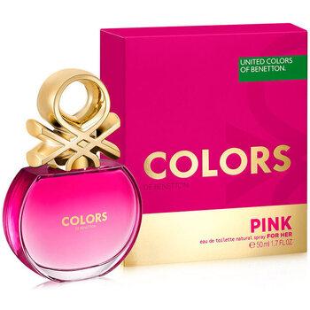 Belleza Mujer Agua de Colonia Benetton Colors Pink Edt Vaporizador  50 ml