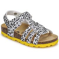 Zapatos Niña Sandalias Citrouille et Compagnie JANISOL Leopardo / Blanco / Negro