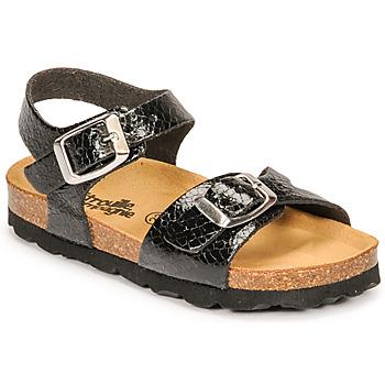 Zapatos Niña Sandalias Citrouille et Compagnie RELUNE Negro / Serpiente