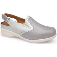 Zapatos Mujer Zuecos (Clogs) Calzamedi S  ELASTICA 0704 PLATINO