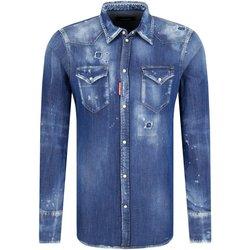 textil Hombre Camisas manga larga Dsquared Camisas S74DM0226 - Hombres azul