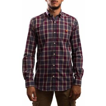 textil Hombre Camisas manga larga Klout CAMISA REGULAR CUADRO Gris