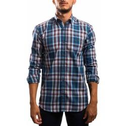 textil Hombre Camisas manga larga Klout CAMISA REGULAR CUADRO Azul