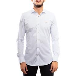 textil Hombre Camisas manga larga Klout CAMISA SLIM MICRO Blanco