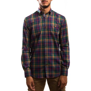 textil Hombre Camisas manga larga Klout CAMISA REGULAR CUADRO Verde
