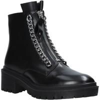 Zapatos Mujer Botas de caña baja Apepazza F0COMBAT10/LEA Negro
