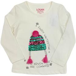 textil Niños Camisetas manga larga Losan 026-1201AL Blanco