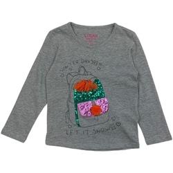 textil Niña Camisetas manga larga Losan 026-1201AL Gris