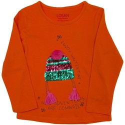 textil Niños Camisetas manga larga Losan 026-1201AL Naranja
